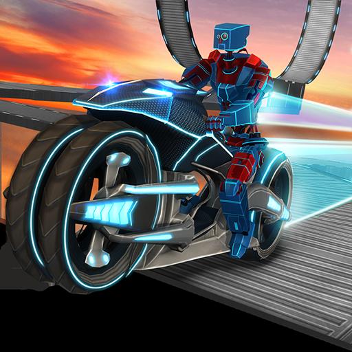 Traffic Bike Rider Racing & Drifting Adventure Simulator Mission: Robot Vélo Stunt Extreme Freestyle Jeu de Motocross Gratuit 2018