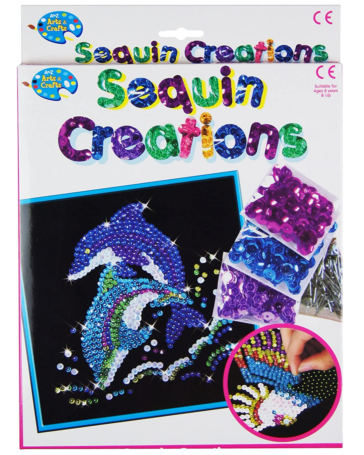 make your own sequin creations childrens pin art craft set