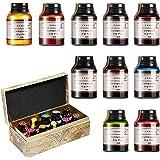 GC - Set di 10 flaconi di inchiostro per calligrafia da 20 ml, inchiostro privo di carbonio per penna stilografica, per diari