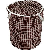 KiaraHome® Printed Waterproof Canvas Laundry Bag, Toy Storage, Laundry Basket Organizer (Check)