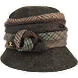 Lierys Cappello con Cachemire Harris Tweed Donna - Made in Italy Cloche Invernale Fodera, Fodera Autunno/Inverno
