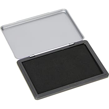 Q-Connect KF15440 Large Stamp Pad Metal Case - Black