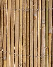 Bambus-Sichtschutz aus Leisten Bambusmatte - 4m Rolle, 2m Hoch - Papillon
