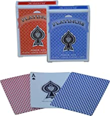 The Ace Card Company Linen Paper Playing Cards (Red and Blue) - Pack of 2