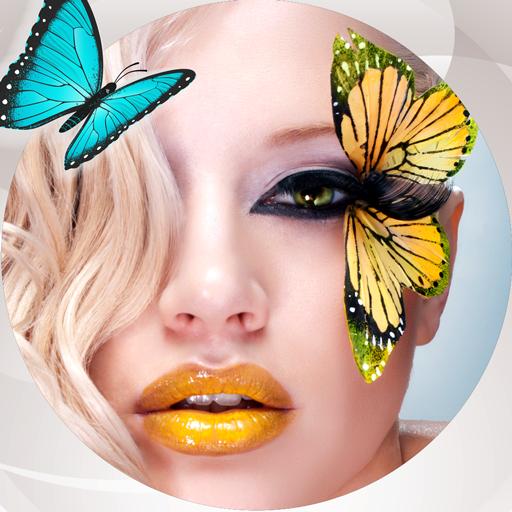 (Schmetterlings-Foto-Collage)