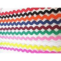 Farbwahl 25m Qualit/äts-Zackenlitze mit Glitzereffekt Zick-Zack-Borte 4//7mm Farbe:silber