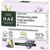 N.A.E. - Shampooing Solide Certifié Bio - Usage Quotidien Cheveux Normaux - Extraits de Riz Bio et de Lavande Bio - Formule V