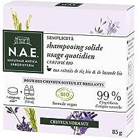 N.A.E. - Shampooing Solide Certifié Bio - Usage Quotidien Cheveux Normaux - Extraits de Riz Bio et de Lavande Bio…