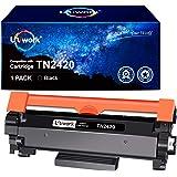 Uniwork Compatible para Brother TN2420 TN-2420 (con Chip) Cartucho Toner para Brother HL-L2310D HL-L2350DW HL-L2370DN HL-L237
