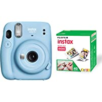 Fujifilm Instax Mini 11 Instant Camera - Sky Blue with 40 Shots Film Pack
