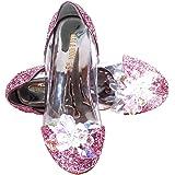 ELSA & ANNA Ultimo Design Buona qualità Ragazze Principessa Regina delle Nevi Gelatina Partito Scarpe Sandali PNK16-SH