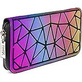 VISMIINTREND Multicolored Polyurethane Women's Geometric Rhomboids Lattice Wallet (VIT_CLT_GEO_GREEN)