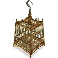 Farang Cage à oiseaux thaïlandaise en bambou, 24 cm x 32 cm, ou luminaire