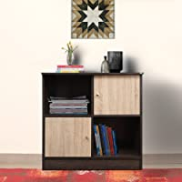 TADesign Duet-6014 Engineered Wood Bookcase (Dark Brown & Sonoma Oak, 18 Months Warranty)