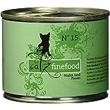 Catz finefood N° 15 Huhn und Fasan Katzennassfutter, 6er Pack (6 x 200 g)