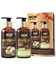 WOW Apple Cider Vinegar Shampoo - WOWsome Twosome No Parabens & Sulphates Hair Care Package – 600mL