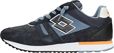 Lotto 212406 Sneakers con Lacci in CAMOSCIO E Tessuto da Uomo
