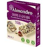 El Almendro - Barritas de Almendra, Chocolate Blanco y Frutos Rojos - 4x25 gr - Sin Gluten - Sin Aceite de Palma - Fuente de