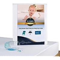 SLEEPZEN Protège Matelas 60 x 120 cm Imperméable - Alèse Certifiée Oeko-TEX® - Surface 100% Coton Molleton - Membrane…