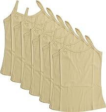 BODYCARE Pure Cotton Plain Beige Slip for Girls & Kids (80S-Packof6)