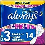 Always Platinum Night (T3) Serviettes Hygiéniques Ailettes14