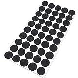 Adsamm® | 50 x viltglijders | Ø 20 mm | zwart | rond | 3,5 mm dikke zelfklevende vilten meubelglijders van topkwaliteit