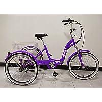 Quality Products Tricycle pour Adultes, vélo à Trois Roues, Cadre Repliable, Vitesses Shimano à 6 Vitesses, Cadre en…