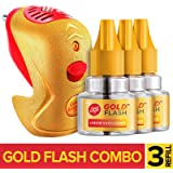 Good Knight Gold Flash - Mosquito Repellent Combo Pack (Machine + 3 Refills)