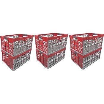Klappbox 45 L bis 50 kg  silber 2 x Profi rot  Faltbox  Box Kiste