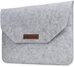 Robustrion Premium Protective Soft Felt Sleeve Cover for Apple MacBook Pro 13 inch MacBook Air 13 inch MacBook Pro Retina 13 inch, HP, Dell, Surface Pro, Acer 13 inch Laptops - Grey