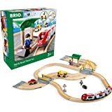 BRIO World Rail and Road Travel Train Set for Kids Age 3 Years Up - Compatible with all BRIO Railway Sets & Accessories