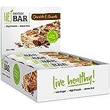 HEJ Protein Bar - Protein-Riegel ohne Zuckerzusatz - Eiweiß-Riegel Low Carb - Fitness Riegel Protein - Geschmack Chocolate & Almonds - 12er Pack (12 x 60g)