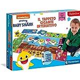 Clementoni- Sapientino-Tappeto Gigante interattivo-Baby Shark-Puzzle Bambini-Gioco Quiz (Versione in Italiano) -Made in Italy