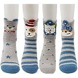 Conysan Gruesos cachemira lana calcetines de piso, casa abrigados calcetines de mujeres, antideslizantes tejidos calcetines d
