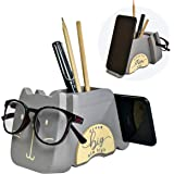 I'm Wood Multipurpose Eyeglass Phone Pen & Pencil Holder Stand Stationery Desk Organizer Accessories Decor, For Home Office D