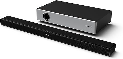 Sharp HT-SBW160, 2.1 TV-Heimkino-System, Soundbar mit kabellosem Subwoofer, Bluetooth, HDMi und 360W Gesamtleistung, Schwarz