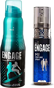 Engage Sport Cool Deodorant Spray For Men, 150ml / 165ml and Engage M2 Perfume Spray For Men, 120ml