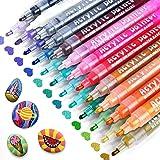 Rotuladores de pintura acrílica, RATEL 24 colores Prima Impermeable Permanente Rotuladores para pintura rupestre, proyectos d