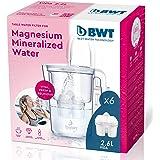 BWT Bwt Soft Vida Manual – Carafe filtrante à eau douce + Pack de 6 filtres doux pour carafe à eau, 2,6 L Blanc 800 g