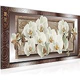 Schilderijen Bloemen Orchidee - Wanddecor - op Vlies Canvas XXL - Formaat Schilderij Woonkamer Decoratie Kunstdruk Wall Art 1