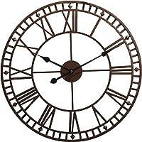 Wyegate Outdoor Garden Wall Clock Large Weatherproof with Roman Numerals Diameter 60.3cm x H4cm (Bronze)
