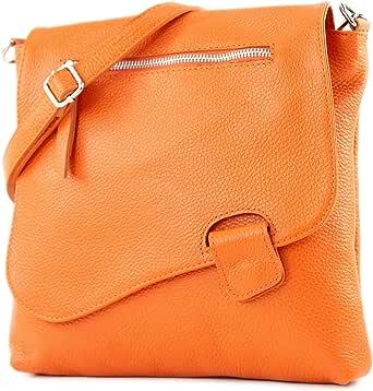 modamoda de -. cuoio ital Borsa da donna Messenger bag borsa a tracolla in pelle borsa NT07 2in1