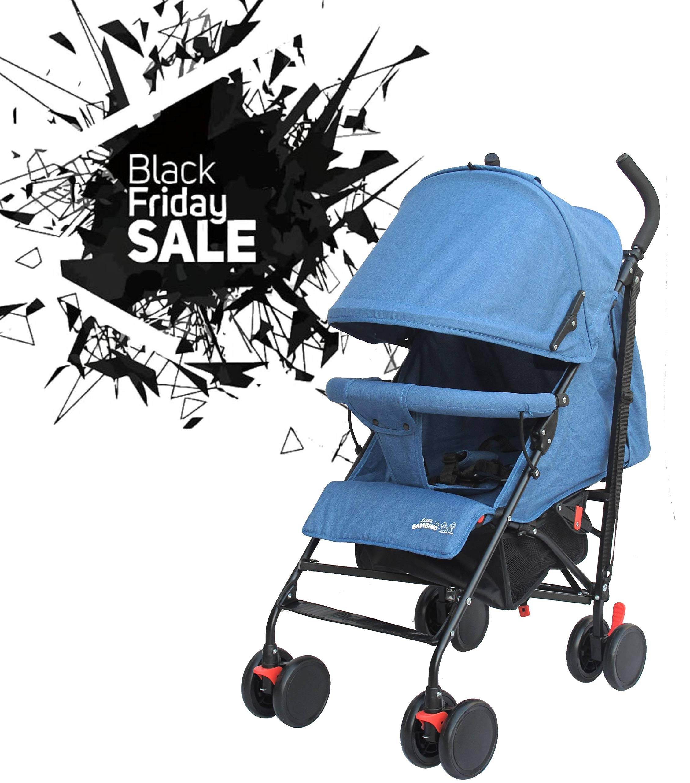 Stroller for Kids Lightweight Buggy Easy Fold Travel Stroller Buggy Foldable for Travel (Blue) Little Bambino ✨Extendable upf 50+ sun canopy and built-in sun visor ✨EASY USAGE - One-hand foldable buggy makes taking your baby for travels or walks a simple pleasure. It could stand on its own so you could take care of your baby with less things to worry about. ✨ADJUSTABLE BACKREST - Travel stroller backrest can be adjusted. Suitable for children from 0 to 36 months 1