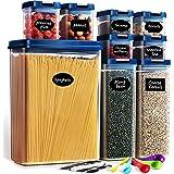 Lockcoo Boîtes Hermetique Alimentaire Lot de 9, Bocaux Hermetiques Alimentaires en Plastique Scellée avec Couvercle Boite de