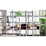 Bikri Kendra®-Big Square Silver 28-3d Acrylic Decorative Mirror
