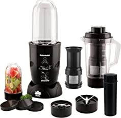 BMS Lifestyle 400-Watt High-Speed Blender Mixer Grinder and Juicer with 3 Jar, Black