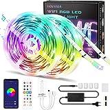 WiFi Tiras LED 20M RGB Música, Compatible con Alexa y Google Home HOVVIDA Luces de Tiras LED 5050 12V para Habitación, Contro