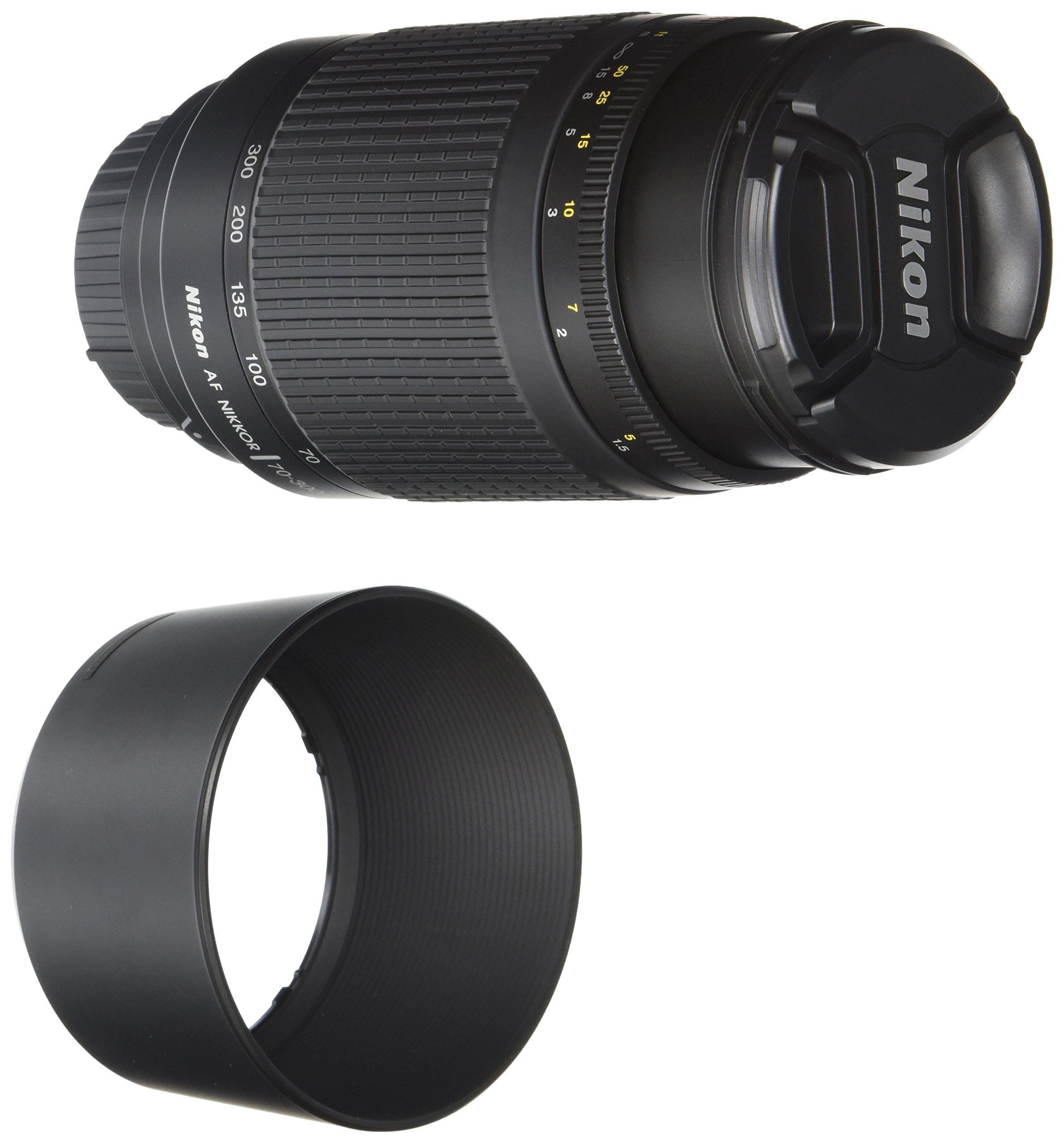 Nikon Obiettivo Nikkor AF 70-300 mm, f/4-5.6G, Nero [Versione EU]