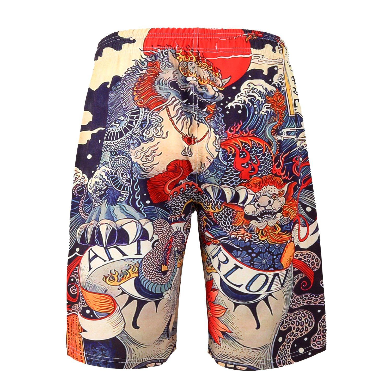CHIYEEE Costume da Bagno Uomo Stampa 3D Asciugatura Veloce Sportivi da Bagno Pantaloncini da Surf Costumi da Bagno Spiaggia Pantaloni Estivi M-XXL