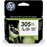 HP 305XL Cartouche d'Encre Trois Couleurs grande capacité Authentique (3YM63AE)